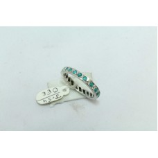 925 Sterling silver Women's band ring natural turquoiae stone Size No. 16