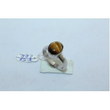 925 Sterling silver Women's Ring with Tiger's eye stone Ring size Adjustable