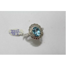 925 Hallmarked Sterling silver Real Blue Topaz Gemstone Ring Size No. 15