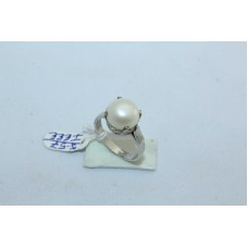 925 Sterling silver Women's Ring with Pearl Stone Ring size 12