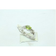 925 Sterling silver Women's ring natural lemon topaz stone Size No. 14