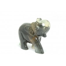 Natural multi color fluorite gemstone Elephant Figure Home Decorative Gift Item