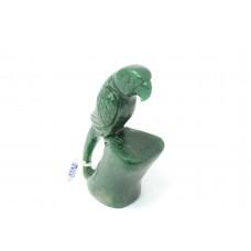 Handmade Natural Green Jade gem stone Bird parrot Figure Home Decorative Gift