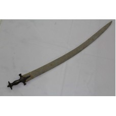 "Antique Sword Wootz steel blade Silver Wire Work on Handle 33.5"" Long"