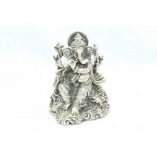 Handmade Solid 925 Sterling SILVER God Ganesha Idol Statue religious 311 Gr