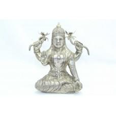Handmade Solid 925 Sterling SILVER Goddess Lakshmi Idol Statue religious 176 Gr