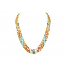 Fashion Multi Color 5 line string zircon stones beads women's necklace