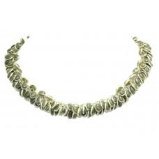 Handmade Designer Natural Grey Labradorite stone bezel setting necklace 16.5'