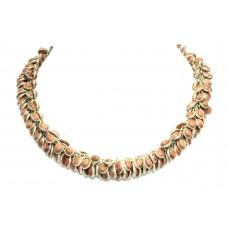 Handmade Designer Natural Sand stone bezel setting necklace 16.1 Inch
