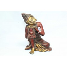 Buddhism God Sitting Buddha Idol Statue Brass Figure Home Decorative