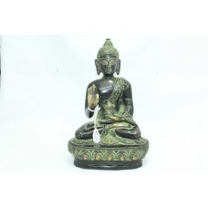Buddhism God Blessing Buddha Idol Statue Brass Figure Home Decorative black