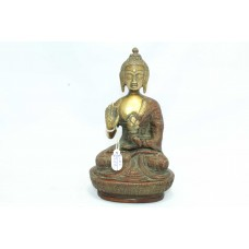 Buddhism God Blessing sitting Buddha Idol Statue Brass Figure Home Decorative