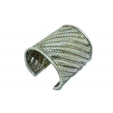 925 Sterling Silver Cuff Bracelet women jewellery 78.74 grams free size
