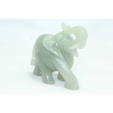 Hand crafted Natural green gemstone Elephant Figure Home Decorative Item