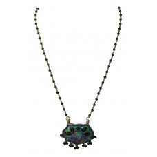 925 Sterling Silver Enamel Meena peacock design Pendant With Enamel Beads Chain