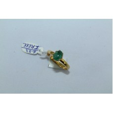 18 Kt Yellow Gold Ring Natural Cabochon Emerald Gemstone Women's Ring size 13