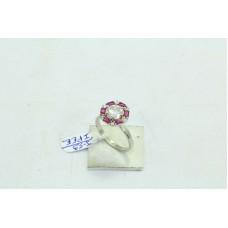 925 Sterling Women's silver ring Ruby Gemstones zircon Ring Size No 15