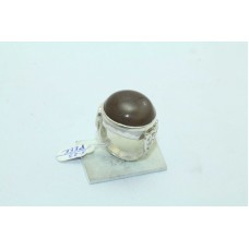 Designer 925 Sterling silver Women's ring natural grey moonstone size 17