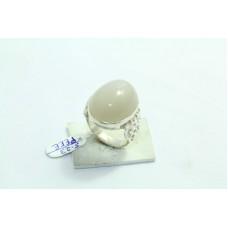 Designer 925 Sterling silver Women's ring natural white moonstone size 14