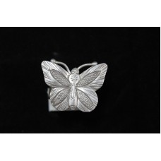 925 STERLING SILVER RING size no 16 BUTTERFLY THEME OXIDISED POLISH