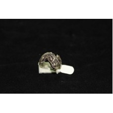 925 STERLING SILVER RING size no 16 DRAGON ANIMAL THEME OXIDISED POLISH