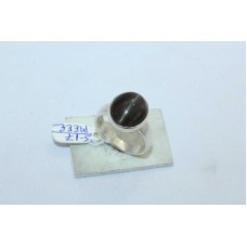 925 Sterling silver women's ring natural black cat's eye semi precious gemstone