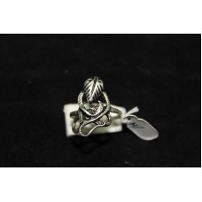 925 STERLING SILVER RING size no 15 COBRA SNAKE THEME OXIDISED POLISH