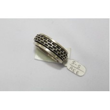 925 Sterling silver ring .Band Style size 18 Rotating Band Ring