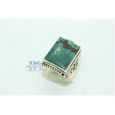 925 Sterling silver Unisex Turquoise Stone Ring Size 20 Oxidised Polish