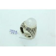 925 Sterling silver Unisex Rainbow Stone Ring Size 21 Oxidised Polish