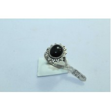 925 Sterling silver Black Onyx Stone Ring Size 16 Oxidized Polish