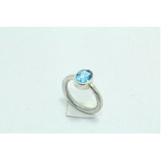 925 Sterling silver Women's ring Natural semi precious Blue Topaz Stone