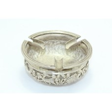 Ashtray 925 Sterling Silver Traditional Handmade Animal Figures Hand Engraved