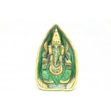 Green Jade natural Stone God Ganesha Idol statue Home Decorative painted